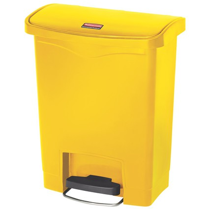 Rubbermaid Tret-Abfalleimer Slim Jim, 30 Liter, gelb
