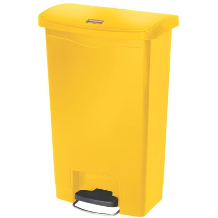Rubbermaid Tret-Abfalleimer Slim Jim, 50 Liter, gelb