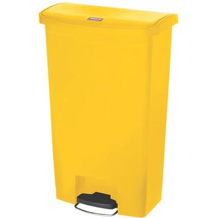 Rubbermaid Tret-Abfalleimer Slim Jim, 68 Liter, gelb