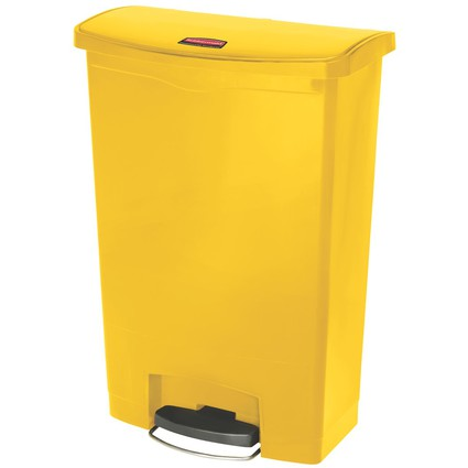 Rubbermaid Tret-Abfalleimer Slim Jim, 90 Liter, gelb