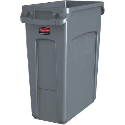 Rubbermaid Abfallbehälter Slim Jim mit Lüftungskanälen,grau