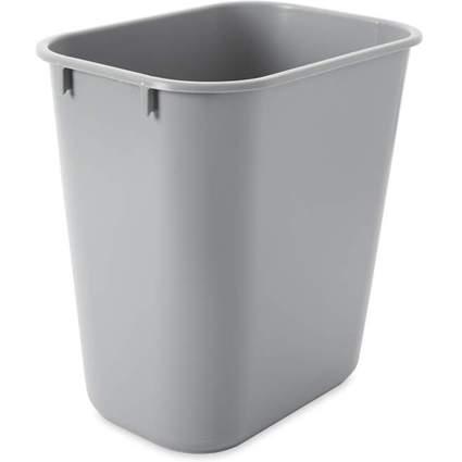 Rubbermaid Papierkorb, 12,9 Liter, rechteckig, PE, grau