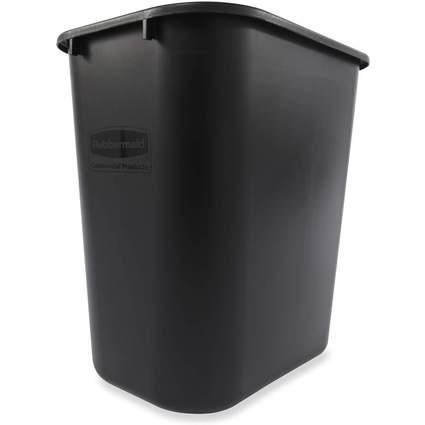 Rubbermaid Papierkorb, 26,6 Liter, rechteckig, PE, schwarz