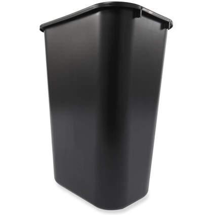 Rubbermaid Papierkorb, 39 Liter, rechteckig, PE, schwarz