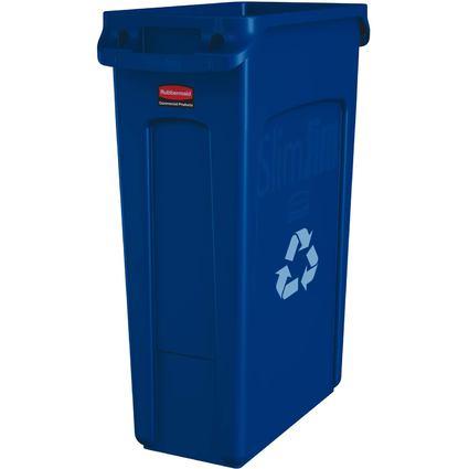 Rubbermaid Abfallbehälter Slim Jim mit Lüftungskanälen,blau