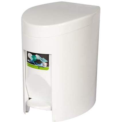 curver Tret-Abfalleimer, rechteckig, 6 Liter, weiß