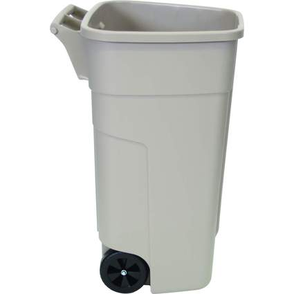 Rubbermaid Abfall-Rollcontainer, 100 Liter, PP, beige