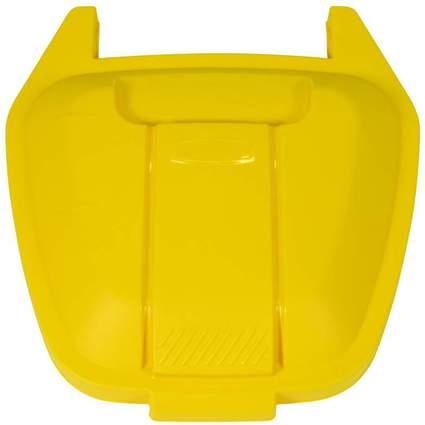 Rubbermaid Deckel für Abfall-Rollcontainer, PP, gelb