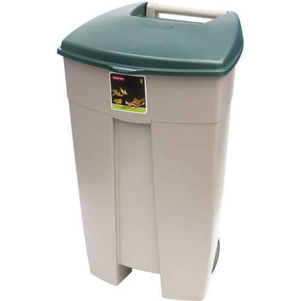 curver Tret-Abfalleimer Eco-Rollcontainer, beige/grün
