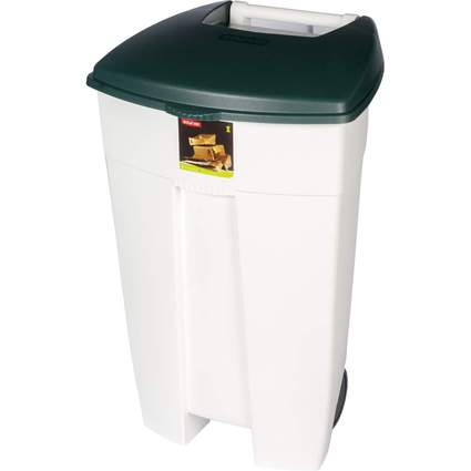 curver Tret-Abfalleimer Eco-Rollcontainer, weiß/grün