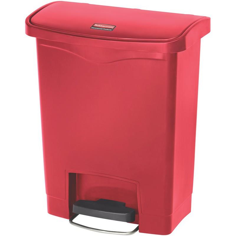 rubbermaid tret abfalleimer slim jim 30 liter rot 1883564 bei g nstig kaufen. Black Bedroom Furniture Sets. Home Design Ideas