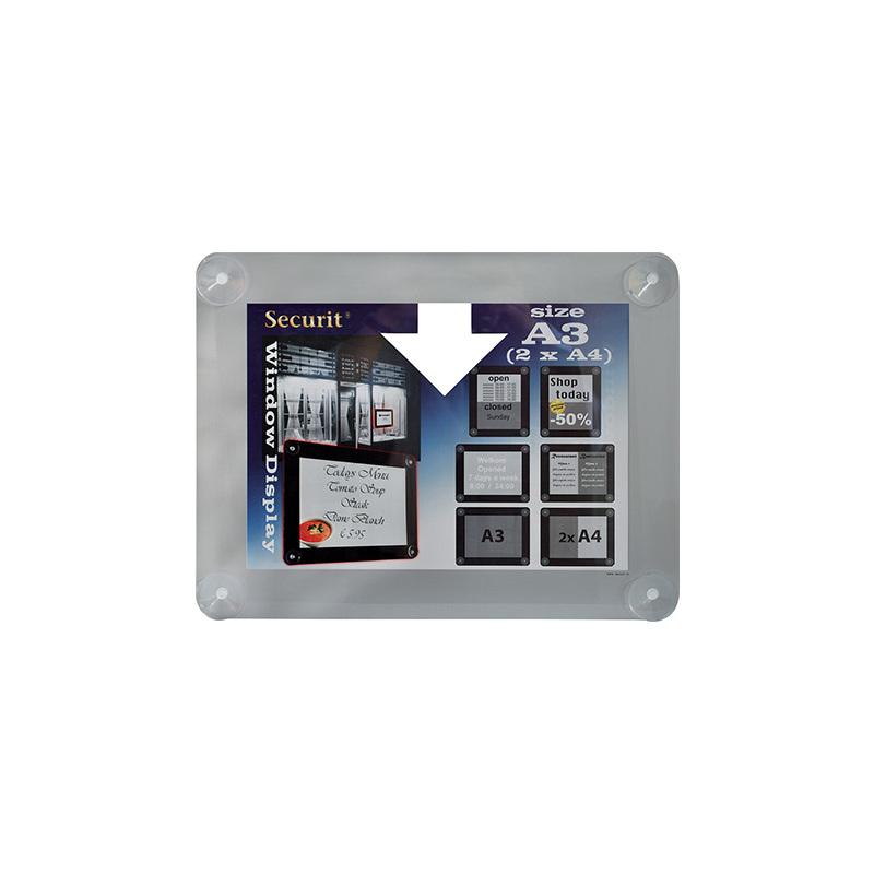 Securit Fenster-Plakatrahmen, DIN A3, grau PFW-A3-GY bei www ...