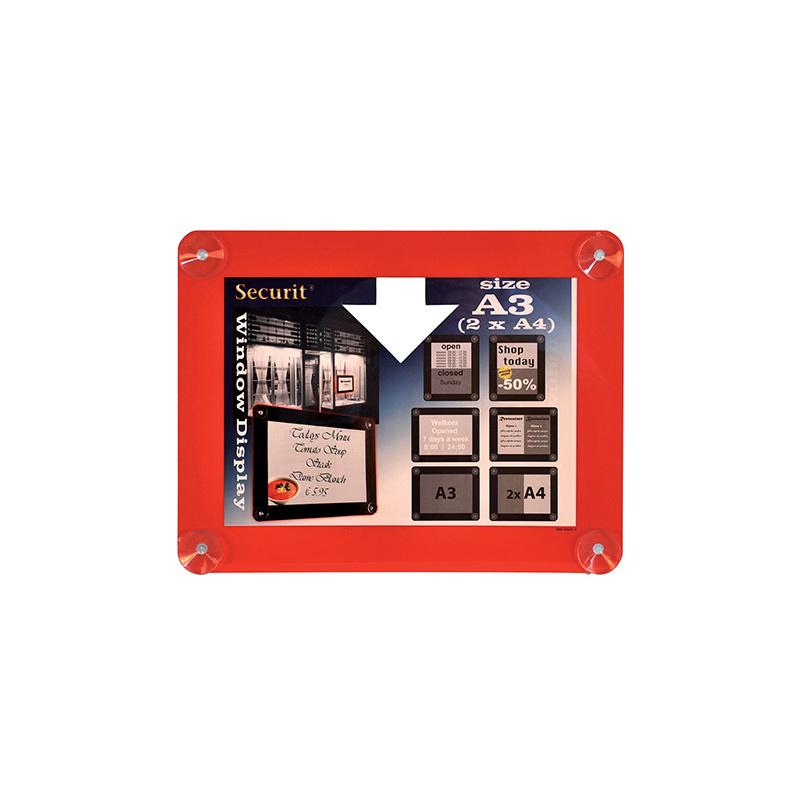 Securit Fenster-Plakatrahmen, DIN A3, rot PFW-A3-RD bei www ...