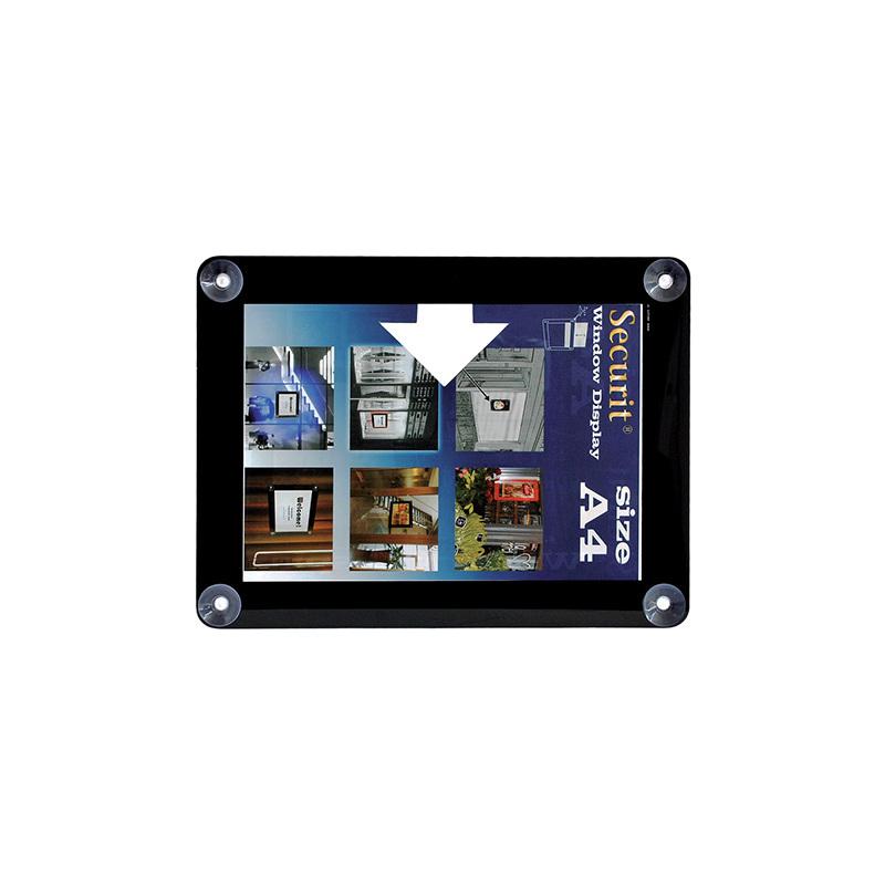 Securit Fenster-Plakatrahmen, DIN A4, schwarz PFW-A4-BL bei www ...