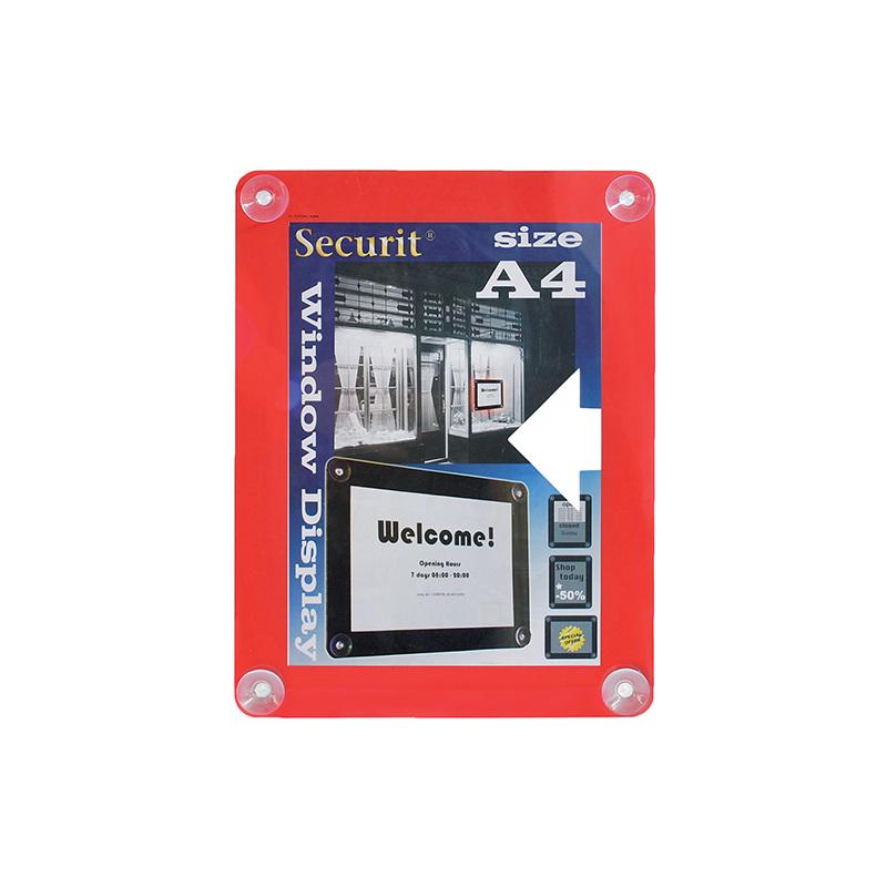Securit Fenster-Plakatrahmen, DIN A4, rot PFW-A4-RD bei www ...
