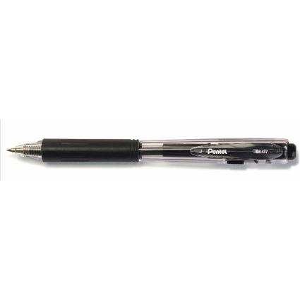 Pentel Druckkugelschreiber BK437, schwarz