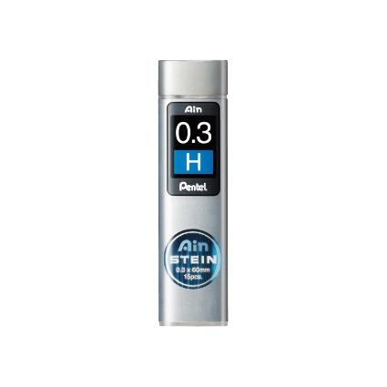 Pentel Druckbleistift-Feinmine AIN STEIN C273, Härtegrad: H
