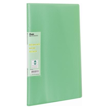 Pentel Sichtbuch Vivid, DIN A4, PP, 30 Hüllen, grün
