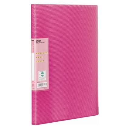 Pentel Sichtbuch Vivid, DIN A4, PP, 30 Hüllen, pink