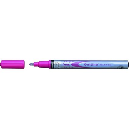 PentelArts Lackmarker Outline Marker, silber/pink