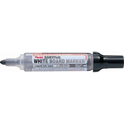 Pentel Whiteboard-Marker EASYFLO MW50M, Rundspitze, schwarz
