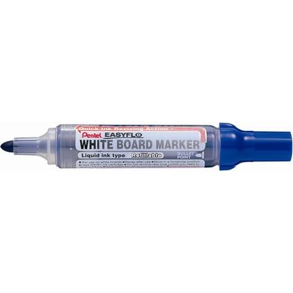 Pentel Whiteboard-Marker EASYFLO MW50M, Rundspitze, blau