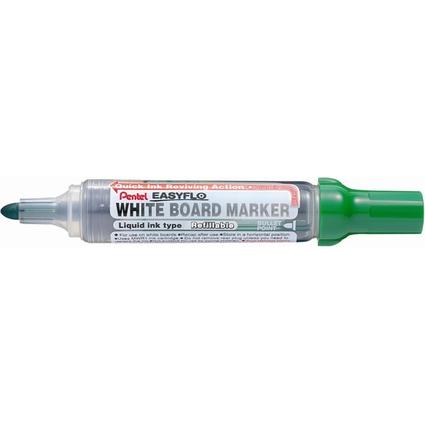 Pentel Whiteboard-Marker EASYFLO MW50M, Rundspitze, grün