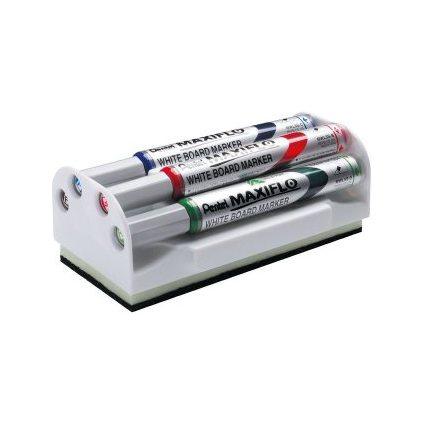 Pentel Whiteboard-Marker Set MAXIFLO MWL5S, mit Schwamm