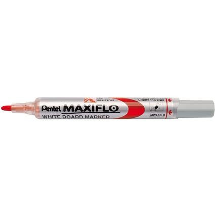 Pentel Whiteboard-Marker MAXIFLO MWL5S, rot
