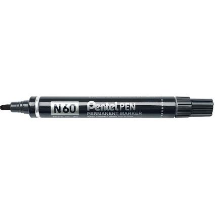 Pentel Permanent-Marker N60, schwarz, Keilspitze