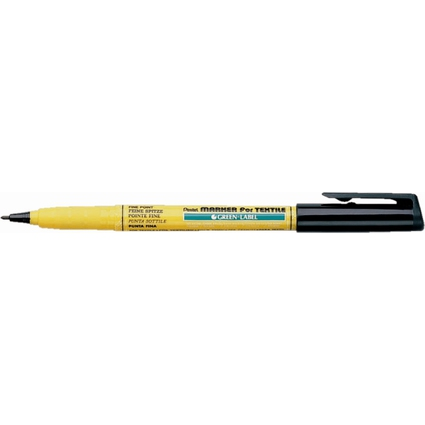 Pentel Markierstift für Textilien GREEN-LABEL NM10, schwarz