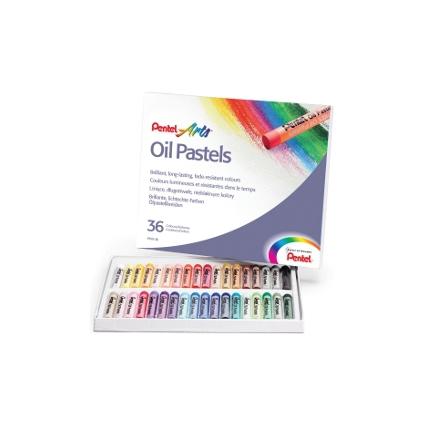 PentelArts Ölpastellkreide PHN4, 36er Kunststoff-Etui