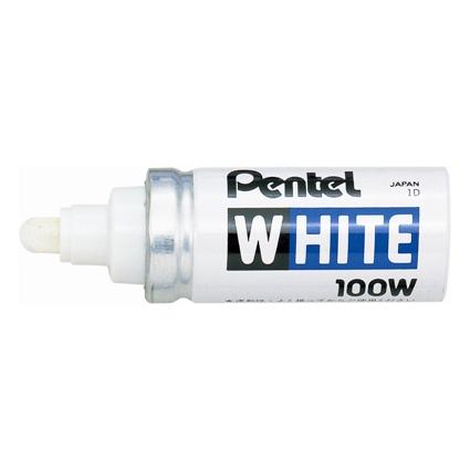 Pentel Weißer Permanent-Marker X100W, Rundspitze - 2,9 mm