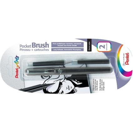 PentelArts Brush Pen Pinselstift, Gehäuse schwarz