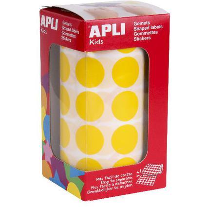 """agipa apli Kids Sticker Creative """"Rund"""", auf Rolle, gelb"""