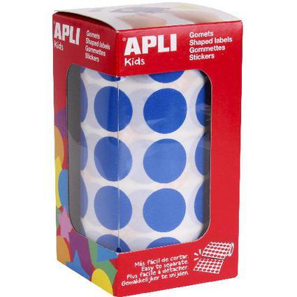 """agipa apli Kids Sticker Creative """"Rund"""", auf Rolle, blau"""