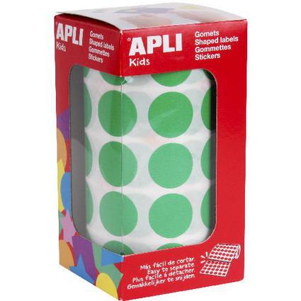 """agipa apli Kids Sticker Creative """"Rund"""", auf Rolle, grün"""