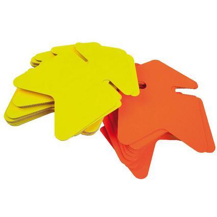"agipa Symbol-Etiketten ""Pfeil"", gelb/orange, 240 x 320 mm"