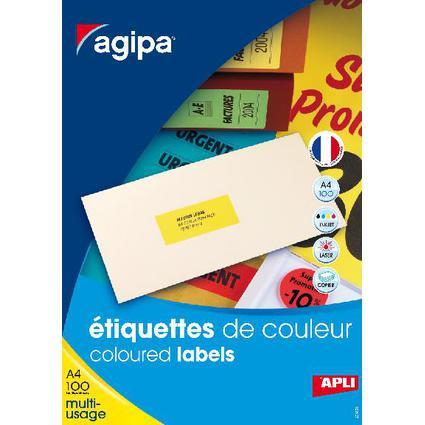 agipa Adress-Etiketten, 70 x 35 mm, neongelb