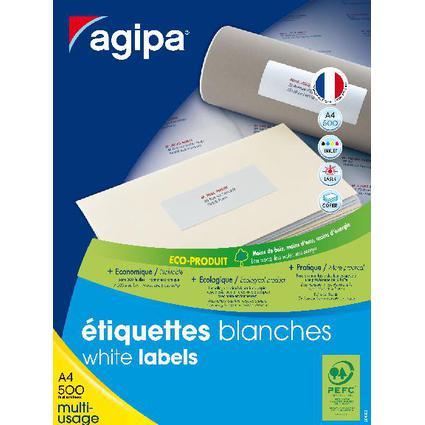 agipa Adress-Etiketten, 99,1 x 33,9 mm, weiß