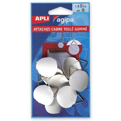 agipa Bildaufhänger, Durchmesser 30 mm, gummiert