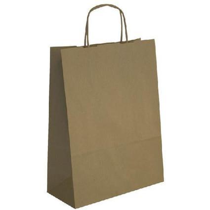 agipa Papiertragetasche - aus Kraftpapier, groß, braun