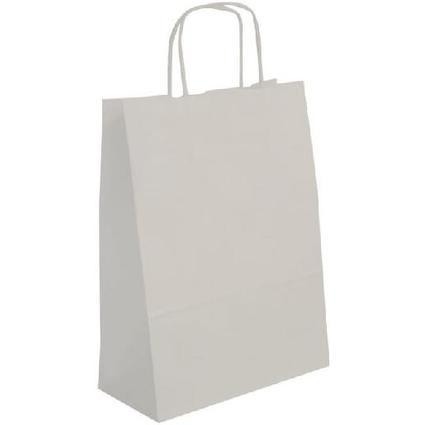 agipa Papiertragetasche - aus Kraftpapier, mittel, weiß