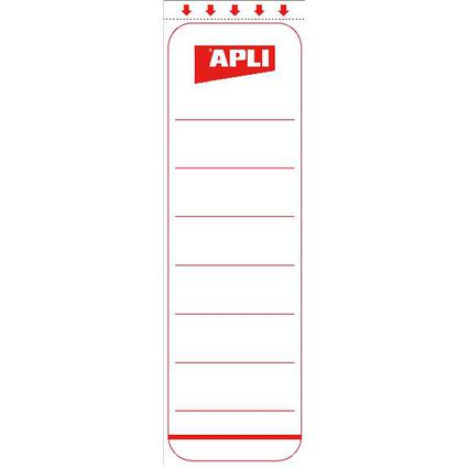 agipa Ordnerrücken-Etiketten, kurz/schmal, weiß