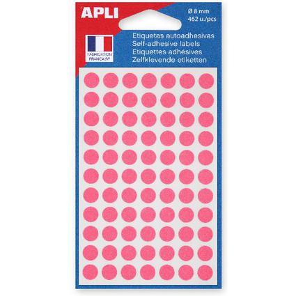 agipa Markierungspunkte, Durchmesser: 8 mm, rund, rosa