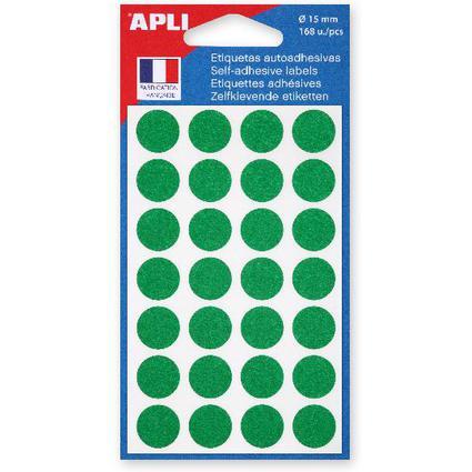 agipa Markierungspunkte, Durchmesser: 15 mm, rund, grün