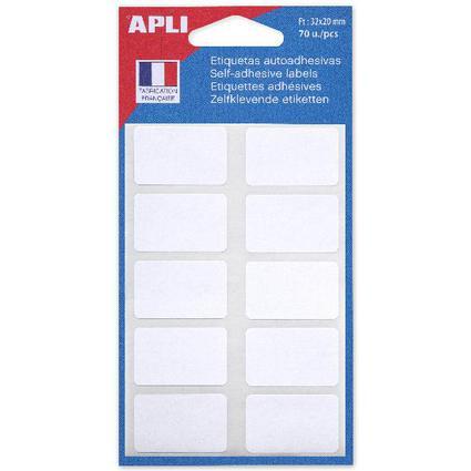 agipa Vielzweck-Etiketten, 20 x 32 mm, weiß