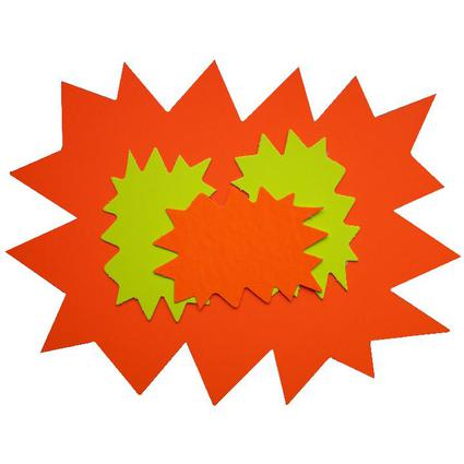 "agipa Signal-Etiketten ""Stern"", gelb/orange, 160 x 240 mm"