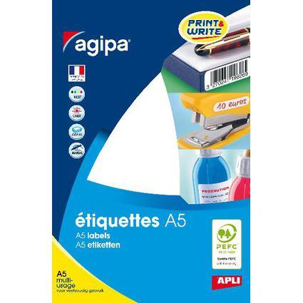 agipa Universal-Etiketten, 15 x 50 mm, weiß
