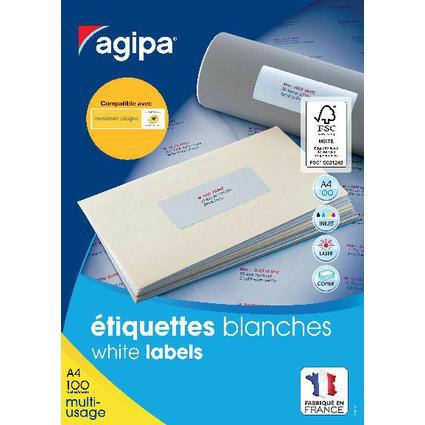 agipa Universal-Etiketten, 99,1 x 38,1 mm, weiß